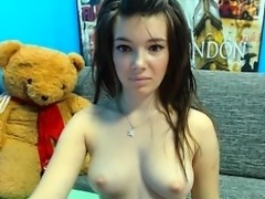 Seductive teen beauty with a perfect ass displays her sweet
