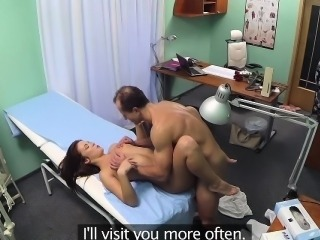 FakeHospital Sweet Doctor gives flowers to hot patient