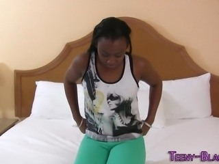 Black teen babe pounded