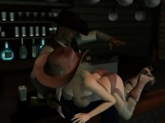 3D Cowgirl Getting Spanked and Toyed