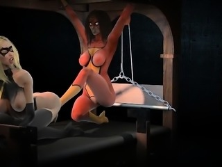 Caught Captured And Lashed - Hottest 3D anime sex movies