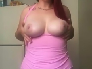 Pretty white bitch with tits!