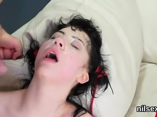 Spicy chick is taken in anal hole asylum for harsh treatment