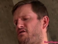 Dicksucking glam babe assfucked by masseur