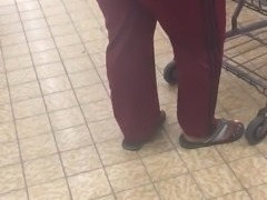 Big booty Gilf in maroon track suit 2