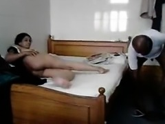 Hot and hot desi whore MILF fucking with aged man