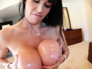 Fucked tits cum covered