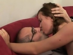 Slutty aged teacher fucks naughty babe senseless