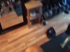 Big boobed wife gets dicked in the GYM