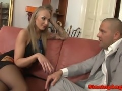 Bigtitted russian assfucking on the sofa