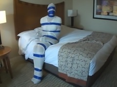 Sandra self gagged and tied by master Allen