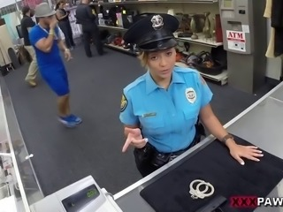 Another day in the neighborhood! Just here relaxing helping out customers until the Law walked through those doors. I thought Idid something wrong, but she came in to pawn her weapon Fucking, Police, Police-officer