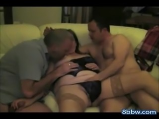 Hot Wife in a 3somes Mature