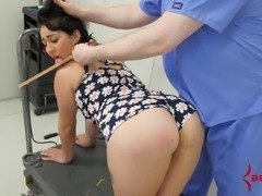 18 year-old anal virgin has her tears used for lube
