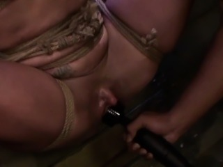 Bound subs pussy squirts