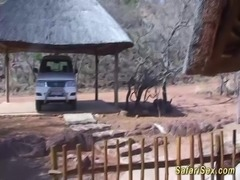 hot chocolate fucked at my real extreme african safari sex trip