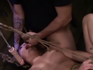 Rope Bondage Fuck Machine for Nikki Bell