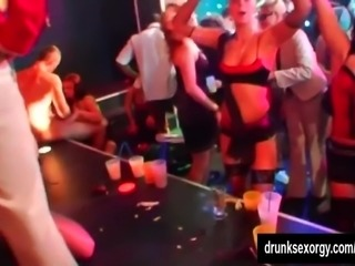 Hot chicks dance and fuck in the club