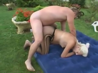 Mom Having a Garden Fuck
