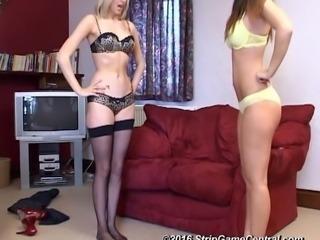 Jessie & Samantha play Strip Tickle