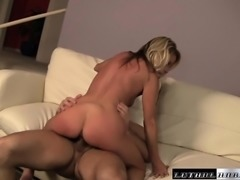 Lucky stud John Strong gets to pound tanned Nikki Charm's firm ass