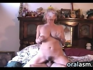 Busty Milf Smoking And Riding
