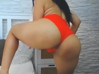 Horny MILF masturbating on webcam