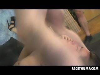 Brunette Dirtbag Deliah Dukes Getting Her Face Fucked Hard