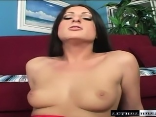 Slender brunette Luscious Lopez gets drilled in the ass by Dirty Harry