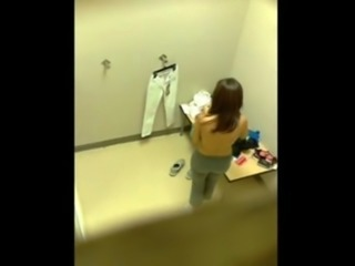 Amateurs secretly filmed in dressing room