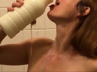 Big Breasts Red Head Milk Challenge