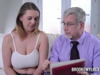 Hot Big Boob Blonde Works Out Better Deal WIth Sales Rep