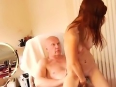 Teen licks old guys ass and old man fuck young anal He was h