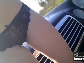 Hot Amateur Gets Fuck out on the Car