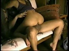 Horny Cheating Wife sucking and riding Cock on my Futon