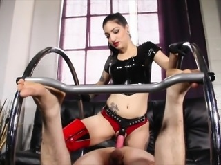 Cybill Troy FemDom Anti - Sex League - Fucked In Half