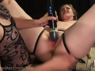 Lezdom Punishes Submissive Anal Slut