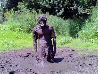 Diving in Mud Pit Naked