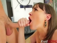 Seth sinks his meat in her tight asshole and ruthlessly reams his...