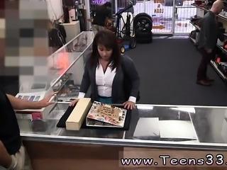 Public bathroom solo MILF sells her husband's stuff for bail