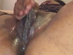 BBW plays with her superclit. Send to me Facebook inbox