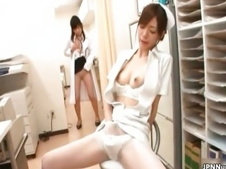 Sexy Japanese nurse loves to have her