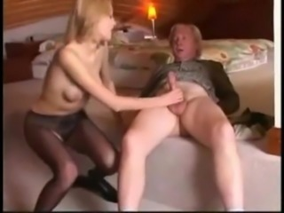 Russian Girl and Old Man - NakedcamwomenDotcom