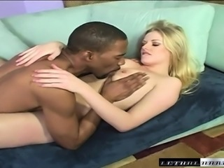 Delightful blonde Estelle embarks on her first interracial adventure