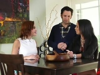 Brandy Aniston And Marina Angel Amazing Threesome