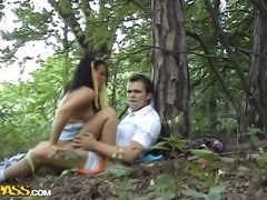 Everyone says that outdoor sex is intense, but an intimate encounter in a...