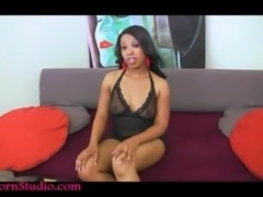 Casting creampie fat black girl white guy