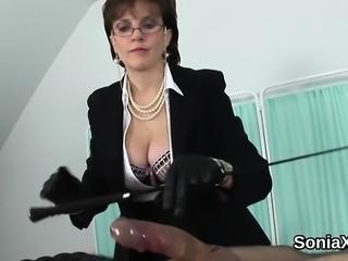 Unfaithful english mature lady sonia displays her massive br