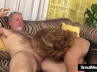 Big titted MILF Nikki rides a fat dick