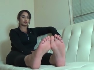 Arab Goddess foot worship joi